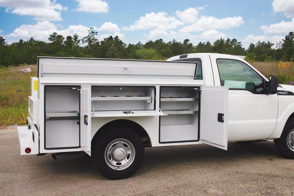 White Service Body Truck