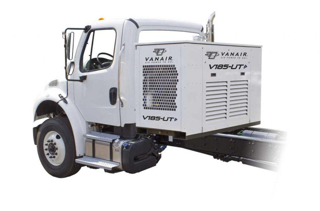 Truck mounted air compressors
